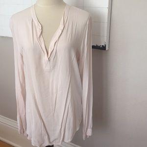 Velvet blush light blouse S